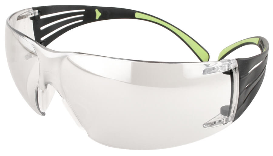 fc4c376df4c4 3M SecureFit Safety Glasses with Black/Lime Temples and Clear Anti-Fog Lens